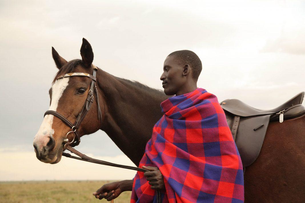 Horseback rider in Safari